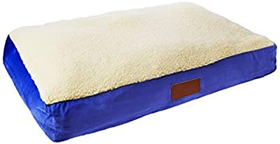 Ellie-Bo Dog Bed with Faux Suede and Sheepskin Topping for Dog Cage/ Crate XXL 48-inch