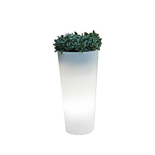 Jardinière avec lumière LED RGBW 60 cm et 80 cm solaire et batterie rechargeable 60 cm