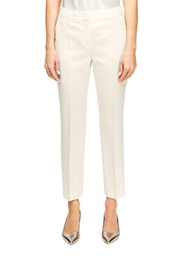 s.Oliver BLACK LABEL Damen 150.10.003.18.180.2010711 Hose, Cream, 46