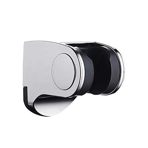 litulituhallo Soporte de pared para baño ajustable con cabezal de ducha y soporte para teléfono móvil, color plateado