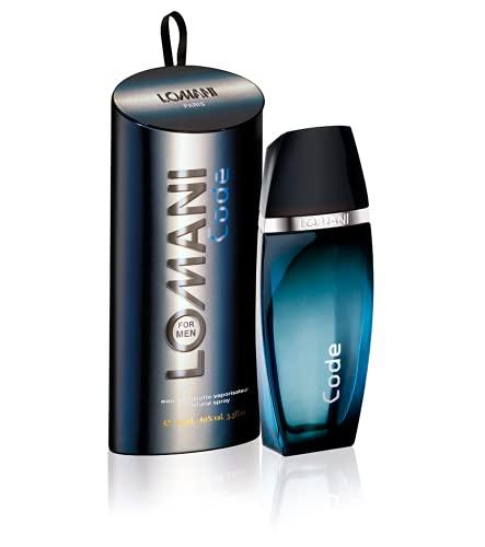 lomanis Lomani Code Eau de Toilette Spray for Men, 3.3 Ounce