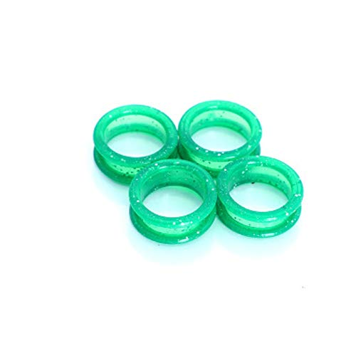 10PCS Barber Hair Shears Scissors Finger Rings Grips Inserts Hairdressing Silica gel Soft Rubber Ring (green)