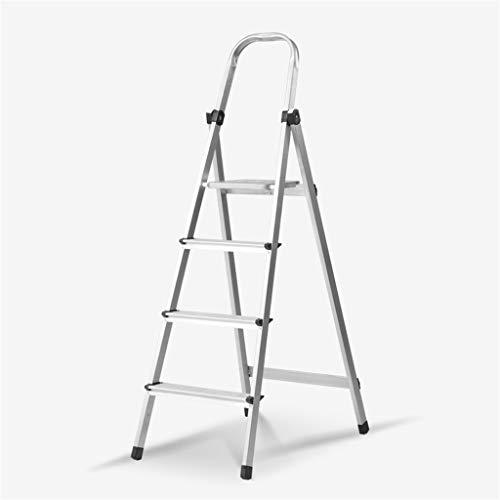 C-J-Xin multimetallledare, ytterstege ljusledarram/bokhandel bokhylla suber klättring ståstolar/hushållsartiklar hushållsstege (storlek: 44 x 73 x 128 cm)