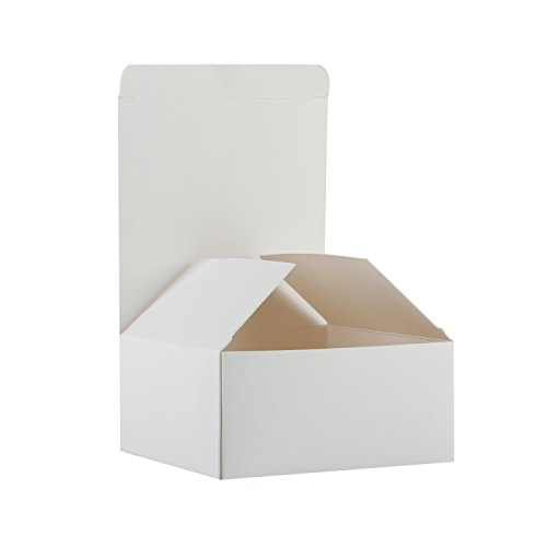 "RUSPEPA Recycled Cardboard Gift Boxes - Small Gift Box with Lids For Bracelets, Jewelry And Small Gifts - 4""X4""X2"" - 30 Pack - White"