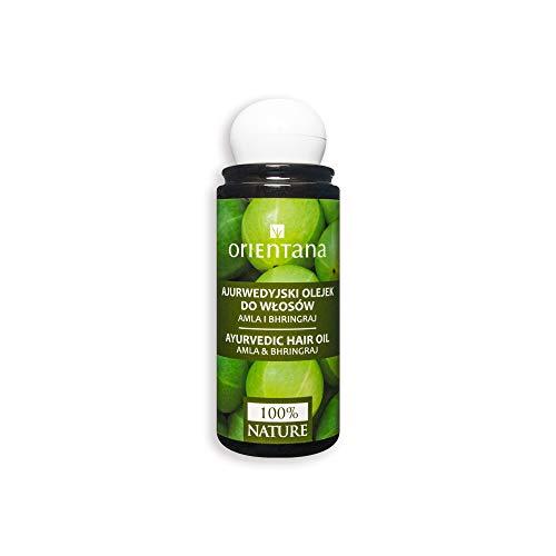 Orientana - Ayurvedisches Haaröl mit AMLA und BHRINGRAJ - 100% Natürliches und Veganes - aktiviert das Haarwachstum - beugt Haarausfall vor, 105 ml