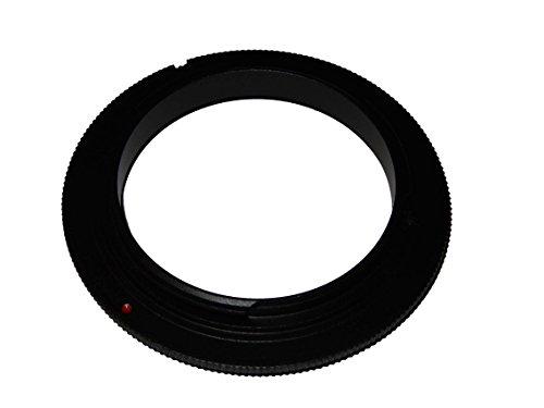vhbw Retro-Adapter Umkehr-Ring Makroadapter 49mm passend für Pentax K-500, K-50, K-30, K-5, K-7, K-m, K-x, K-r, K-01, K200D, K20D, K110D, K100D, K10D