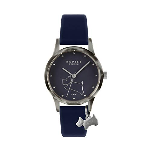 Radley Damen-Armbanduhr it! Armbanduhr, Silikon, Blau RY2845