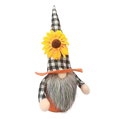yasu7 Hoja de arce girasol gnomo muñeca sin rostro de peluche de peluche elfos enano sueco decoración del hogar adornos para el dormitorio