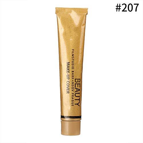 Base de maquillaje líquida, 30 g de base líquida, corrector de control de aceite, base mate para mujeres y niñas(#207 Ceramic White)