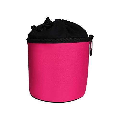 trendfinding Sacchetto Porta-mollette per bucato in Cotone - da Appendere - con moschettone - Fucsia/Nero