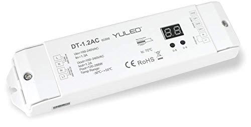 YULED Triac DALI Dimmer 1,2A / 288W 100-240V 1 Kanal Push Dim 0-100%