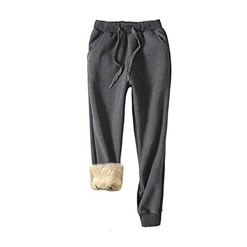 Ejecución de Ejercicios de Yoga Atléticos se Divierte los Pantalones de chándal pantalón con Bolsillo, con cordón Joggers Fleece Pant Pantalones (Color : Gray, Size : XL)