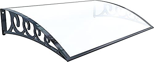Neiva Pensilina, Tettoia Modulabile In Policarbonato Alveolare, Porta Finestre Da Esterno, Impermeabile Resistente alla Corrosione, Trasparente (60 x 100 cm)