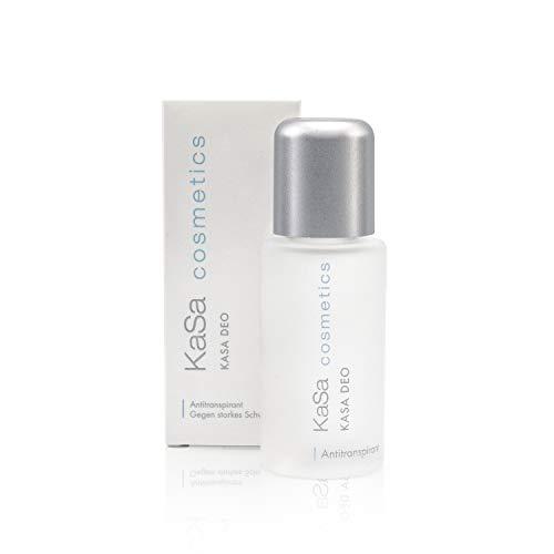 KaSa cosmetics Deo 30 ml - Antitranspirant gegen starkes Schwitzen für Männer & Frauen - Dermatologisch getestet - Schützt vor Schweiß- und Geruchsbildung - parfümfrei - Made in Germany