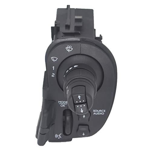 KASturbo 8201590631 Interruptor de limpiaparabrisas con luz indicadora de radio para Clio 3 Kangoo Modus 7701068115