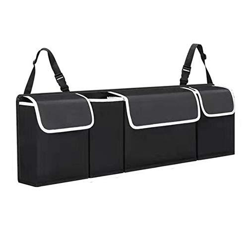 CXZC Organizador de coche, bandeja de maletero y organizador de maletero, organizador de carga para el asiento trasero y espacio libre para el maletero (90 x 12 x 25 cm)