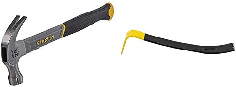 STANLEY STHT0-51309 16oz Fiberglass Curved Claw Hammer, 450g