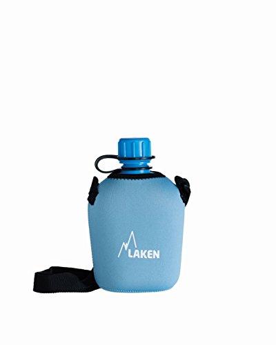 Laken Cantimplora Ultraligera de Polietileno 1 L con Funda de Neopreno Azul