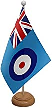 Royal Airforce RAF Ensign Table Flag With Wooden Base