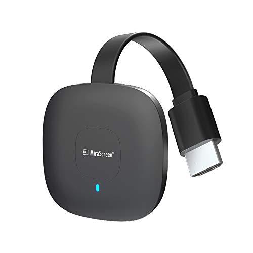 Mirascreen G18 Kabelloser HDMI-WLAN-Bildschirm-Dongle, 4K HDR, WLAN, HDMI-Receiver, kompatibel mit Android/iOS/Windows/Mac/PC (unterstützt Miracast/DLNA/Airplay)