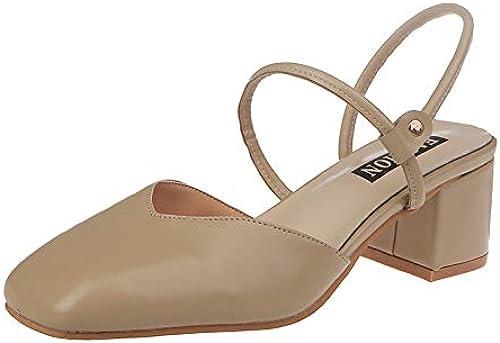 HOESCZS Talons Hauts Sandales Femme été Mot Boucle Sandales De La Mode Féminine avec des Talons Hauts Femme épaisse avec Summer Cool