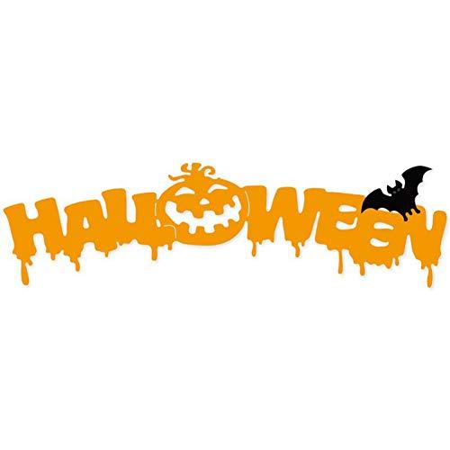 Troquel de corte de bricolaje Plantilla de troqueles de corte de metal de murciélago de calabaza de Halloween para diy tarjeta de álbum de recortes que hace troqueles artesanales troquelado decorat