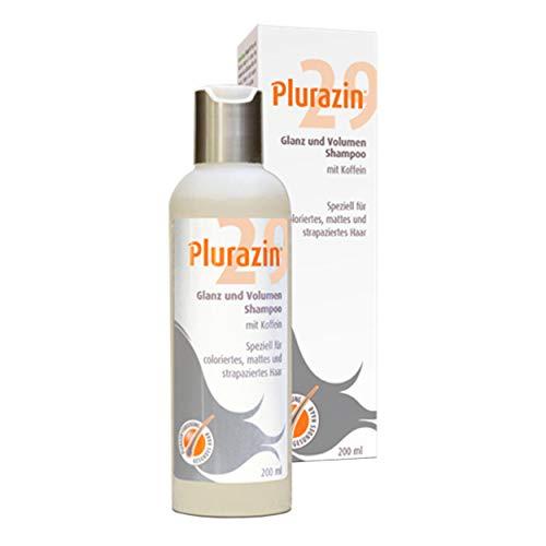 Plurazin 29 Glanz + Volumen Shampoo I Haarausfall und Haarwachstumsstörungen bei Frauen ab dem 30. Lebensjahr I Haar Nährstoffe + Vitamine + Mineralien I Koffein, Arginin, Leinsamen-Extrakt - 200ml