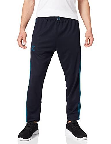 HUMMEL Unisex-Adult HUMMEL ACTION TRAINING PANTS Sweatpants, Dark Sapphire/Blue Coral, 2XL