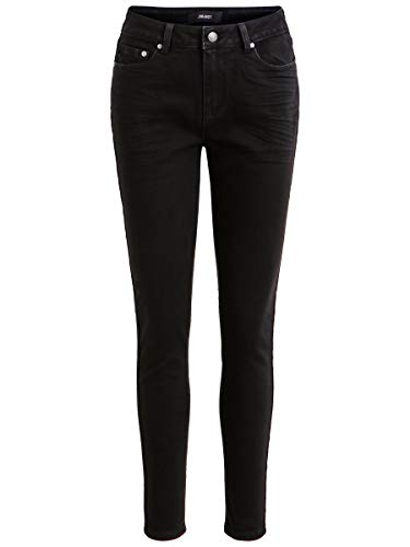 Object Damen OBJSKINNYKATIE MW OXI184 NOOS Skinny Jeans, Schwarz (Black Black), W29 (Herstellergröße: M)