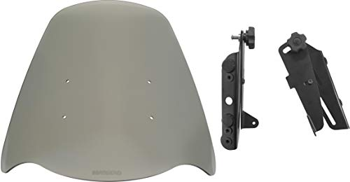 Suzuki V-Strom DL650 (2012-2016) Compatible - Adjustable Motorcycle Windshield System by Madstad Engineering (22, Light Gray)