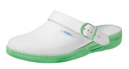 Abeba 5081-37 The Original Chaussures sabot Taille 37 Blanc/Menthe