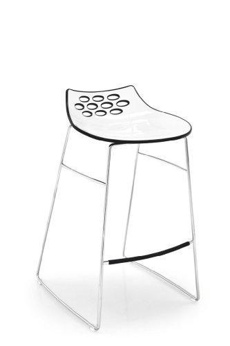 Calligaris Barhocker Jam CS/1033 - in weiß/schwarz glänzend