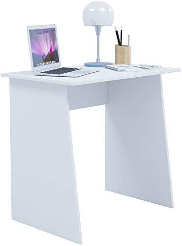 VCM Schreibtisch Computertisch Arbeitstisch Büromöbel PC Laptop Tisch Möbel Weiß 74 x 80 x 50 cm
