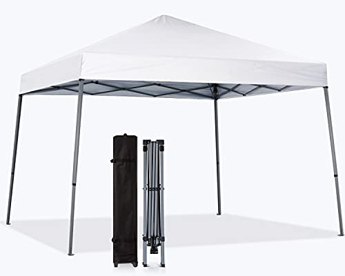 MASTERCANOPY Portable Pop Up Canopy Tent Beach Canopy with Large Base (8x8,White)