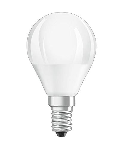 OSRAM Dimmbare LED Lampe mit E14 Sockel, Warmweiss (2700K), Tropfenform, 4.5W, Ersatz für 40W-Glühbirne, matt, LED SUPERSTAR CLASSIC P