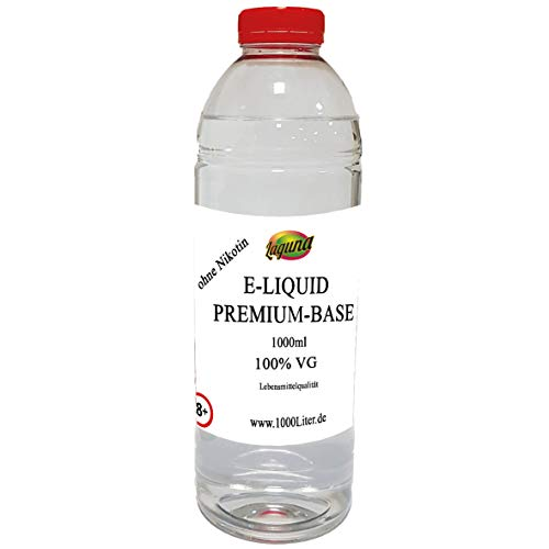 100% Glycerin Premium E Liquid Base 100VG /0PG für viel Dampf 1L PUR Glycerin Vape OHNE Nikotin 0 1000 ml …