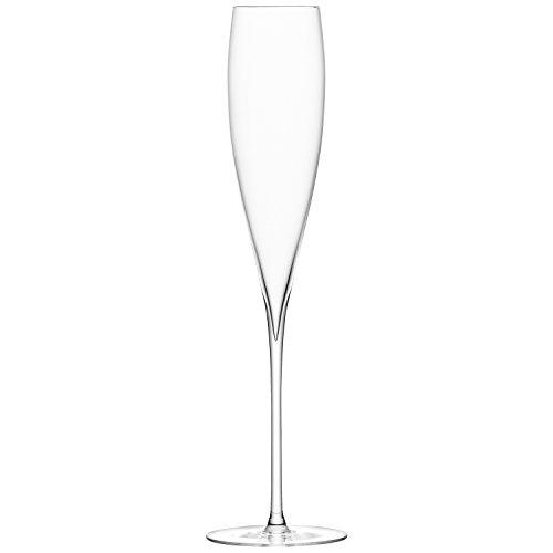 LSA International Verre de vin Savoy (Lot de 2), Claire, Champagne Flute 200ml, Clear, Set of 2