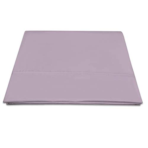 400 Thread Count Cotton Full Flat Sheets Lavender Frost 1pc, 100% Long Staple Flat Cotton Sheet, Soft Sateen Bed Flat Sheets with Stylish 4 Inch Hem (Lavender Frost Full Flat Sheet 100% Cotton)