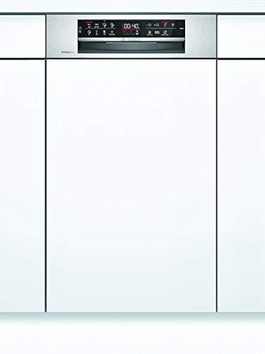 Bosch SPI6ZMS35E Serie 6 Geschirrspüler Teilintegriert / A+++ / 45 cm / Edelstahl / 188 kWh/Jahr / 10 MGD / SuperSilence / EmotionLight / VarioSchublade Pro / Home Connect