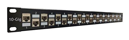 R.J. Enterprises-SDPP-24-C6AS-2-No Punch Down, C6A/C6/C5e, 24 Port...