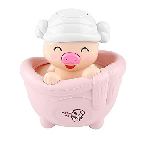 MOHAN88 Juguetes de baño Cerdito Niños Jugando con Agua Piggy Juguetes Baño para niños Rociadores de Agua Juguetes para niños Regalos- Rosa- 9.5x9x11.5cm