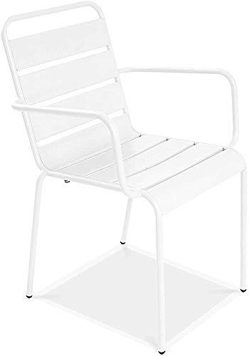 Moderno largo manera simple epoxis de acero apilable sillas de jardín 55 cm de profundidad x 55 cm de alto x 83 cm,H
