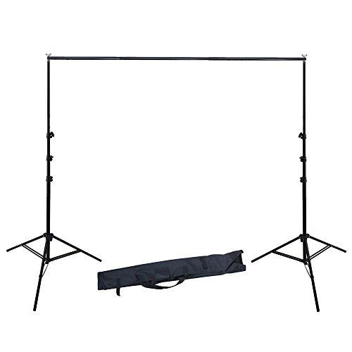 RPGT 2.8 x 3m / 9 x 10' Sistema de Soporte para Fondo de Estudio de Foto y Vídeo con Bolsa de Transporte,Diámetro de Soporte 25mm