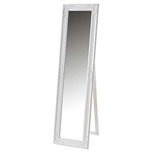 Espejo de pie Grabado Blanco de Madera de Pino de 164x44 cm - LOLAhome