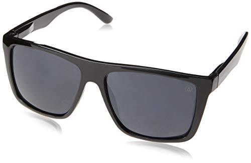 Óculos de Sol Risler, Les Bains, Quadrado, Masculino, Preto, Único