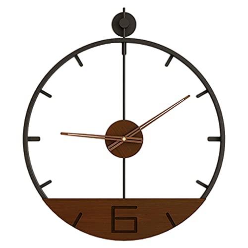 LOVIVER Estilo Vintage Arte Decoración Hierro Nórdico Silencioso Metal Relojes Colgantes Simples Reloj de Pared de Cuarzo de fácil Lectura para el salón - Estilo 4