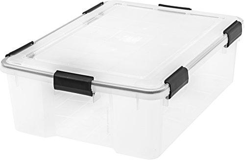 IRIS  Weathertight Storage Box, 41 Quart Weathertight - Clear