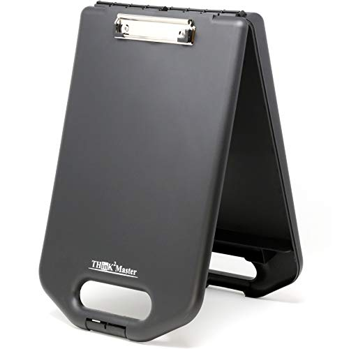 Think2Master Black Plastic Storage Clipboard with Handle and Real Hinges. Storage Area Holds 275 Letter Sized Paper.