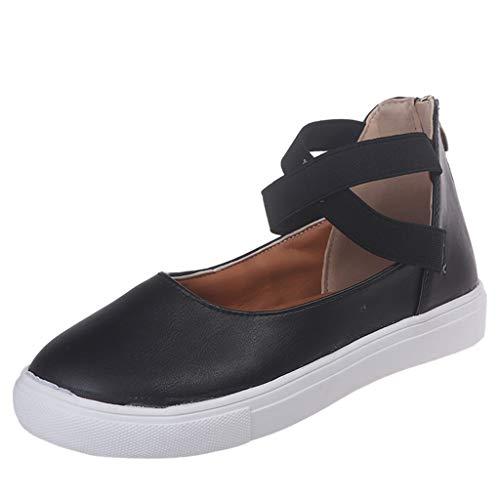Kaister Einzelne Schuhe Beiläufige damen Sandalen runde Zehe Reißverschluss Eben Einfarbig AtmungsaktivSchuhe