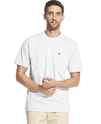 IZOD Men's Saltwater Short Sleeve Solid T-shirt With Pocket, Bright White, 2X-Large (Big)